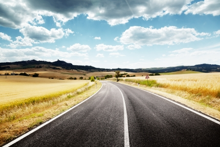 asphalt road in Tuscany Italy Stock Photo - 14654933
