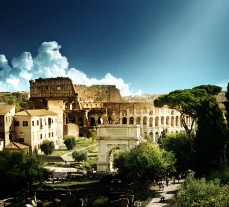 archaeology: Colosseum in Rome, Italy