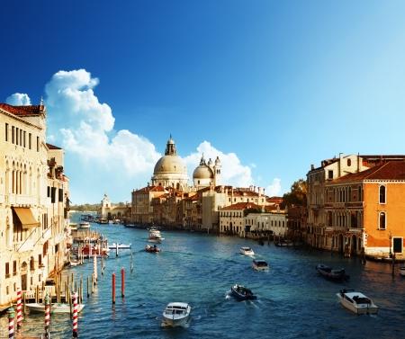 gondola: Grand Canal and Basilica Santa Maria della Salute, Venice, Italy