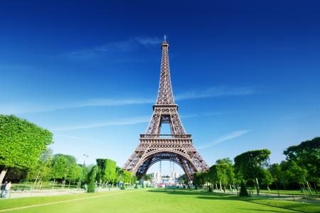 Mañana de sol y la Torre Eiffel, París, Francia Foto de archivo - 14644777