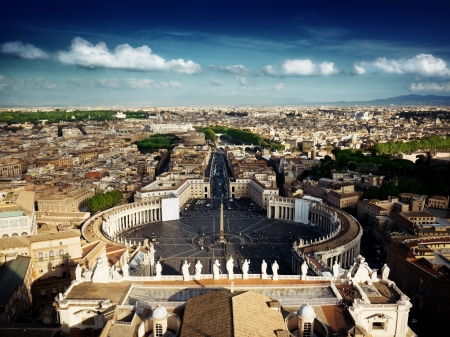 Vatican square of saint Peter