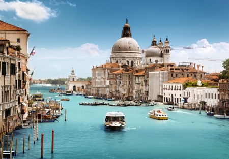Grand Canal and Basilica Santa Maria della Salute, Venice, Italy  Stock Photo - 14939033