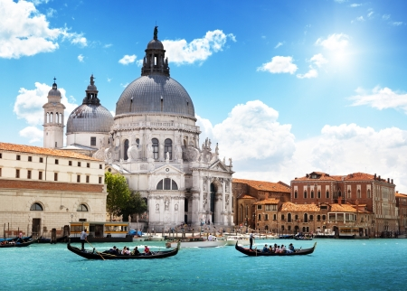 Grand Canal and Basilica Santa Maria della Salute, Venice, Italy  Stock Photo - 14939037