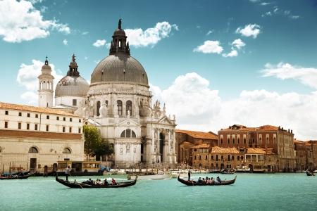 canal house: Grand Canal and Basilica Santa Maria della Salute, Venice, Italy