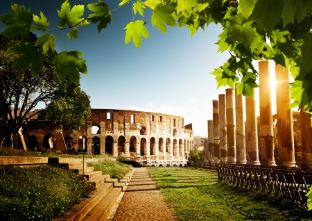 rome: Colosseum in Rome, Italy