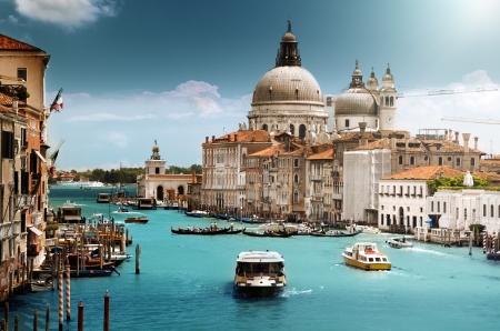 cath�drale: Grand Canal et la Basilique Santa Maria della Salute, Venise, Italie