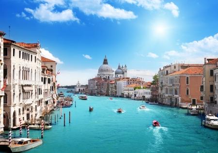 Grand Canal and Basilica Santa Maria della Salute, Venice, Italy 版權商用圖片 - 15307449