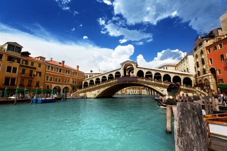 venice italy: Rialto bridge in Venice, Italy Stock Photo