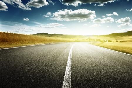asphalt road in Tuscany, Italy Stock Photo - 16214980