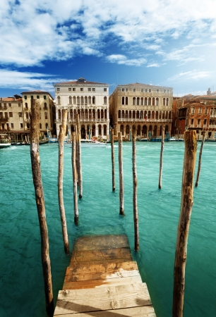 blue lagoon: Grand Canal, Venezia, Iataly Archivio Fotografico