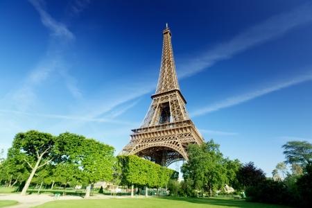 Eiffel toren in Parijs, Frankrijk Stockfoto