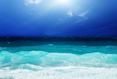 seychelles: sky and stormy ocean