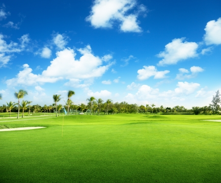 country club: golf course in Dominican republic Stock Photo
