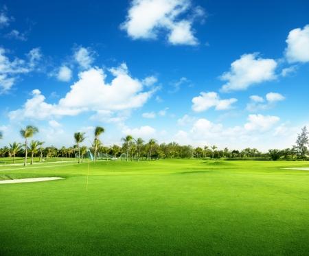 republic of dominican: golf course in Dominican republic Stock Photo