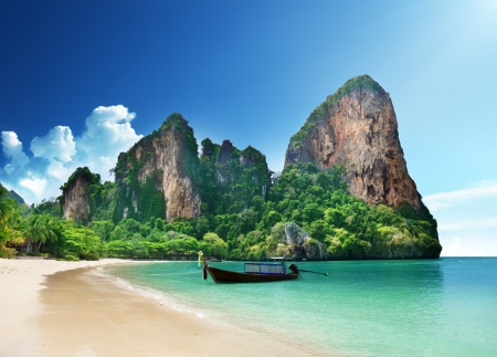 Railay beach in Krabi Thailand Фото со стока