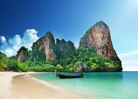 island paradise: Railay beach in Krabi Thailand Stock Photo