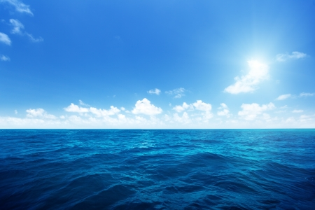 seascape: perfect sky and water of indian ocean Stock Photo