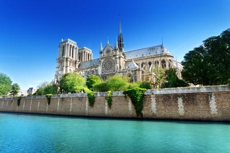 Notre Dame Parijs, Frankrijk Stockfoto