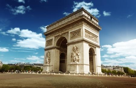 arcos de piedra: Arco del Triunfo en París, Francia