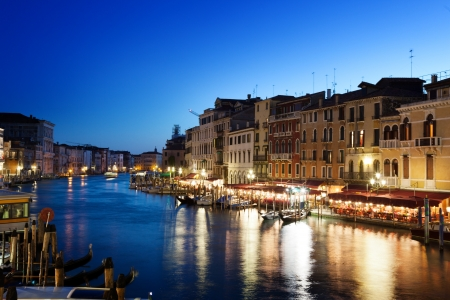 Grand Canal in sunset time, Venice, Italy photo