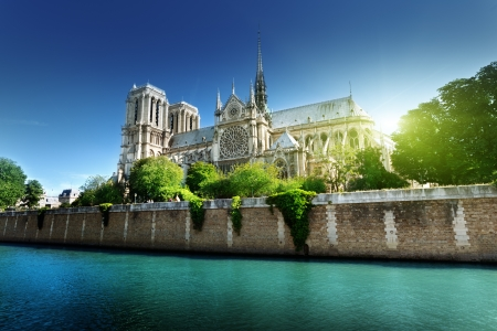 Notre Dame  Paris, France  Фото со стока
