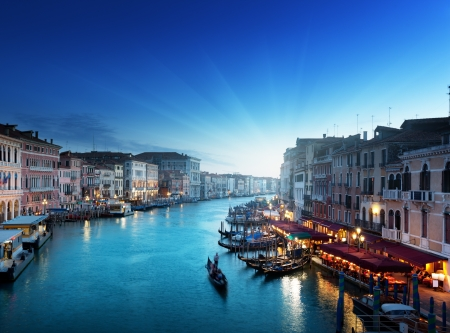 venezia: Grand Canal in sunset time, Venice, Italy Editorial