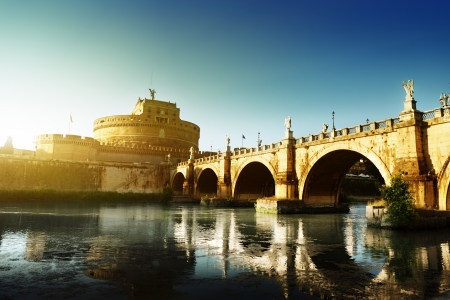 Saint Angel Fortress  and Tiber river in Rome, Italy  Stock Photo - 17465482
