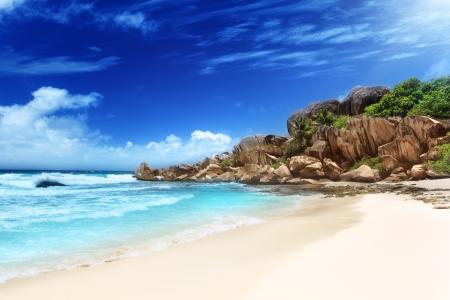anse: Grande anse beach, La Digue island, Seychelles