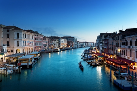 europe: Grand Canal in sunset time, Venice, Italy Editorial