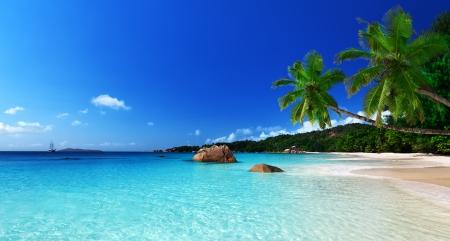 Anse Lazio beach at Praslin island, Seychelles  Stock Photo