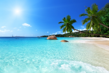 Anse Lazio beach at Praslin island, Seychelles  Stock Photo - 17874817