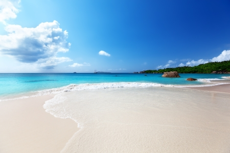 Anse Lazio beach at Praslin island, Seychelles  Stock Photo - 17874448