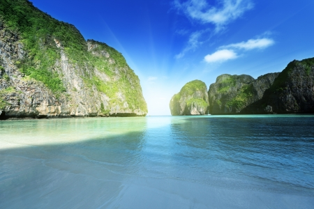 morning time at  Maya bay, Phi Phi Leh island,Thailand Stock Photo - 17874971
