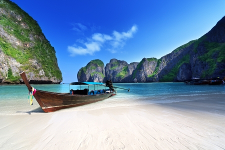 Maya bay Phi Phi Leh island, Thailand Stock Photo