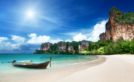 Railay beach in Krabi Thailand photo