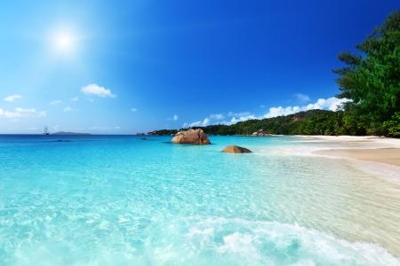 Anse Lazio beach at Praslin island, Seychelles  Stock Photo - 18226496