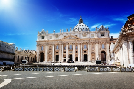 basilica of saint peter: St. Peters cathedral in Vatican Stock Photo