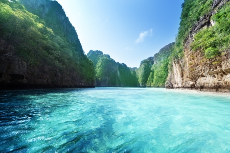 bay: bay at Phi phi island in Thailand