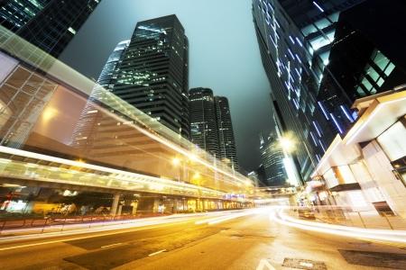traffic in Hong Kong at night Stock Photo - 18819045