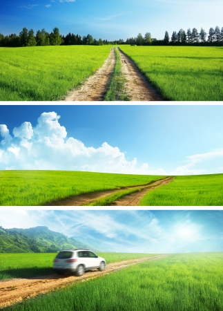 ground roads set of banners Stock Photo - 19243312