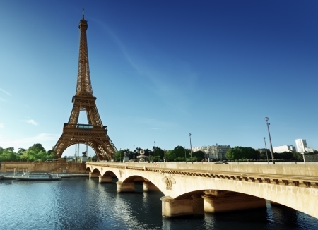 seine: Eiffel tower, Paris. France Stock Photo