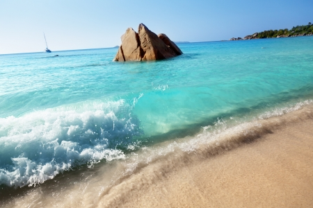 Anse Lazio beach on Praslin island in Seychelles  photo