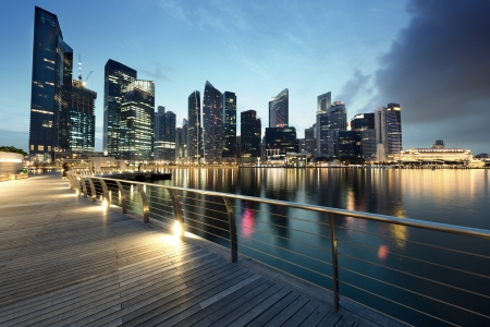 singapore city: Singapore city in sunset time