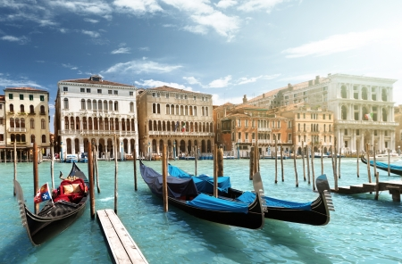 gondolas in Venice, Italy Stock Photo - 20196135