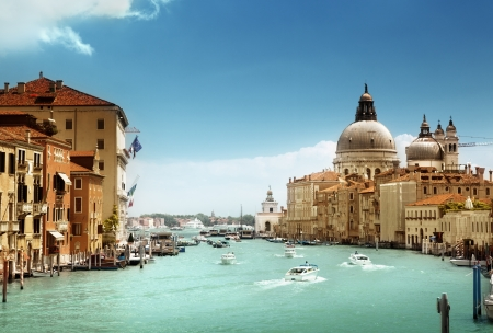 Grand Canal and Basilica Santa Maria della Salute, Venice, Italy  Stock Photo - 20196167