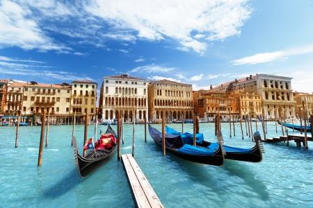venice gondola: gondolas in Venice, Italy