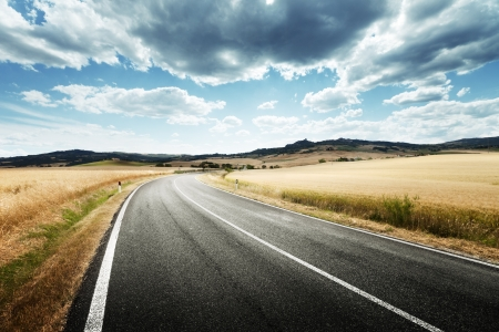asphalt road in Tuscany Italy Stock Photo - 20430109