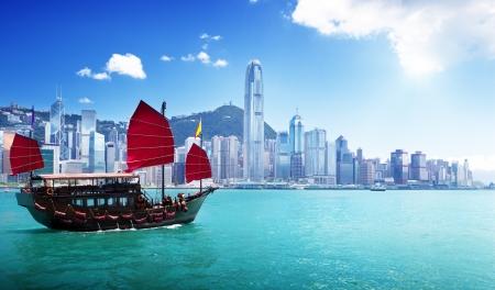 Hafen von Hongkong Standard-Bild - 20952388