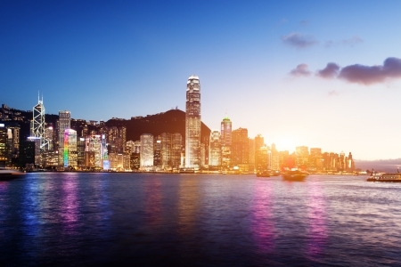 hong kong harbour: Skyline of Hong Kong