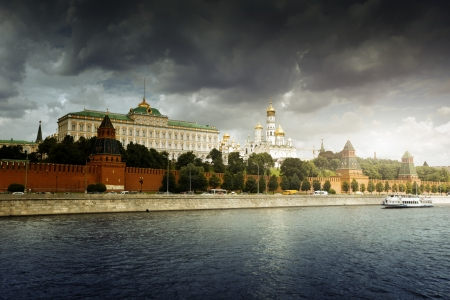 Kremlin, view from Moscow river, Moscow, Russia  photo